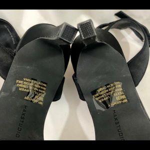 Max Studio Shoes - Max Studio Satin Black Stiletto High Heel Shoes 9M